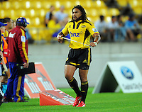 Hurricanes second five Ma'a Nonu walks off after his second yellow card. Super 15 rugby match - Hurricanes v Highlanders at Westpac Stadium, Wellington, New Zealand on Friday, 18 February 2011. Photo: Dave Lintott / lintottphoto.co.nz