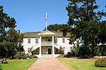 California: Monterey.  Exterior of historic Colton Hall..Photo copyright Lee Foster, 510/549-2202, lee@fostertravel.com, www.fostertravel.com..Photo camon3401