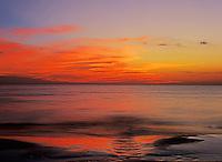 Sunset at beach, Fort Myers, Florida, USA