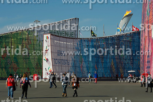 14.02.2014, Olympic Park, Adler, RUS, Sochi, 2014, Feature, im Bild 14 02 2014, Sochi, Olympische Winterspiele Sochi - Olympisches Feuer;<br />