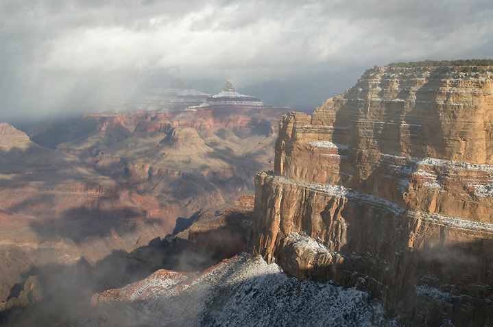 A winter storm clears <br /> Mohave Point, 12.24.12