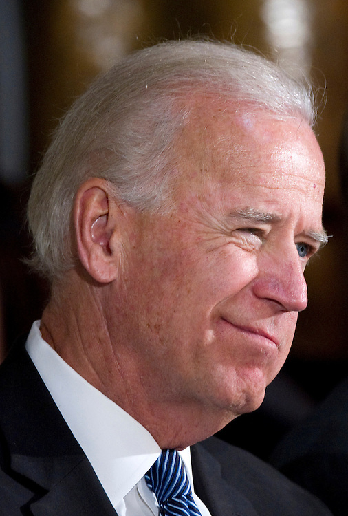 UNITED STATES - APRIL 25: Vice President Joe Biden speaks at a Congressional Memorial Service in honor of the late Rep. Donald Payne, D-N.J., at Statuary Hall in the Capitol. Payne died after a battle with colon cancer in March. (Photo By Chris Maddaloni/CQ Roll Call)