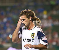 CARSON, CA – August 27, 2011: Real Salt Lake midfielder Kyle Beckerman (5) cut his head during the match between Chivas USA and Real Salt Lake at the Home Depot Center in Carson, California. Final score Chivas USA 0, Real Salt Lake 1.