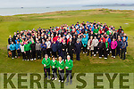 Golfers <br /> ---------<br /> A massive turn out was expected last Sunday morning at Tralee golf club in Barrow even with inclement weather forecast, but they showed great support for the Captain John Reen, front left, Mag Murphy, Lady Captain, Martha Corcoran, Ladies President and Tralee golf club President Des Fitzpatrick pictured before the 1st tee box.