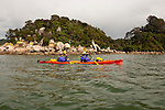 New Zealand, South Island: Kayaking from Kaiteriteri along the Abel Tasman National Park coast. Photo copyright Lee Foster. Photo # newzealand125020