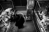 Wroclaw 02.02.2007 Poland.<br /> Two children after operation.<br /> Clinical Hospital, oncology and haematology departmend. This is one of the important Haematologic Hospital in all over Poland, however hospital board stopped to discharge a rising debt. In this connection authorities must close hospital, but goverment had no idea what should do with terminaly ill children.<br /> (Photo: Adam Lach / Napo Images)<br /> <br /> Akedemicki Szpital Kliniczny, oddzial onkologii i hematologii. Temu jednemu z najwazniejszych w Polsce osrodkowi szpitalnemu grozi zamkniecie w powodu dlugow, ktore niezaleznie od wplat NFZ-tu regularnie sciaga komornik. Z calej Polski ludzie charytatywnie wplacaja pieniadze by uratowac szpital i los dzieci dla ktorych to miejsce jest jedynym ratunkiem.