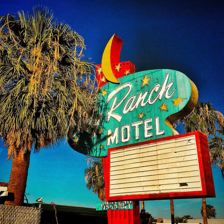 Vintage americana motel signage