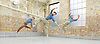 Balletboyz<br /> studio rehearsal for 'Young Men' at the BalletBoyz dance studio in Kingston, Surrey, Great Britain <br /> 16th September 2015 <br /> <br /> performed in costume :<br /> <br /> Edward Pearce<br /> Marc Galvez<br /> Bradley Waller <br /> <br /> <br /> &lsquo;YOUNG MEN&rsquo; <br /> Press nights:  October 6th and 7th 2015 at Sadler's Wells, London.<br /> <br /> <br /> <br /> Directors/Producers:  Michael Nunn and William Trevitt<br /> Choreography:   Iv&aacute;n P&eacute;rez<br /> <br /> Photograph by Elliott Franks <br /> Image licensed to Elliott Franks Photography Services