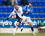 St Johnstone v Rangers...14.01.12  .Dorin Goian with Cillian Sheridan.Picture by Graeme Hart..Copyright Perthshire Picture Agency.Tel: 01738 623350  Mobile: 07990 594431