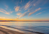Apostle Islands National Lakeshore, WI:  Sunset clouds over Lake Superior from Little Sand Bay