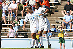 02 November 2008: North Carolina's Jessica McDonald (47) is helped off the field by Casey Nogueira (54). The University of North Carolina Tar Heels defeated the University of Miami Hurricanes 1-0 at Fetzer Field in Chapel Hill, North Carolina in an NCAA Division I Women's college soccer game.