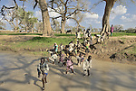 Children in camp for internally displaced people outside Kubum. More than 2.2 million IDPs are living in camps like this in the Darfur region.