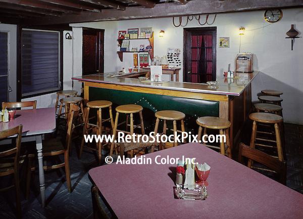 Alamo Court Motel, Ocean City, MD. Coffee Shop & counter. 1959.