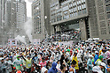 Feb. 28, 2010 - Tokyo, Japan - Thousands of runners fill the street in front of the Tokyo city hall at the start of the Tokyo Marathon 2010 on February 28, 2010. Despite the cold and rain, more than 30,000 athletes participated in the fourth running of the event. (Photo Laurent Benchana/Nippon News)