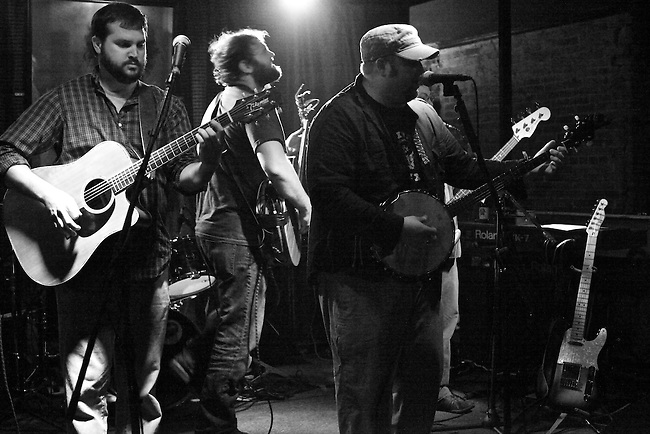 Back City Woods jams at The Hummingbird Stage and Taproom in Macon, Ga. Nov. 27, 2010.