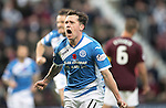 Hearts v St Johnstone&hellip;05.11.16  Tynecastle   SPFL<br />Danny Swanson celebrates his goal<br />Picture by Graeme Hart.<br />Copyright Perthshire Picture Agency<br />Tel: 01738 623350  Mobile: 07990 594431