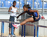 Oxford High's Kristina Dickerson runs hurdlesat the Region 1-5A Track Meet at Oxford High School in Oxford, Miss. on Monday, May 3, 2010.
