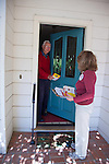 Los Altos city council candidate, Jan Pepper canvasses a local neighborhood in preparation for the Nov. 6 election.  Only three of six candidates will be elected.