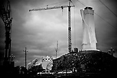 Swiebodzin 05.11.2010 Poland<br /> View of the construction site for a statue of Jesus in Swiebodzin. The statue will stand 35 meters (114.8 feet) tall when completed. Organizers of the project say the statue will be a tourist draw for Swiebodzin, which is situated near the border with Germany. Picture taken November 5.<br /> Photo: Adam Lach / Newsweek Polska / Napo Images<br /> <br /> Plac budowy najwyzszego na swiecie posagu Jezusa Chrystusa w Swiebodzinie ufundowanego prze lokalnego ksiedza Sylwestra Zawadzkiego.<br /> Fot: Adam Lach / Newsweek Polska / Napo Images