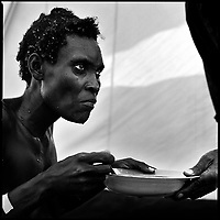 Luanda, Angola, May 21, 2006.Francisca, 37, is a patient at the Cazenga MSF operated cholera field clinic. Between February and June 2006, more than 30000 people were infected with cholera in Angola's worse outbreak ever; more than 1300 died.