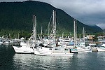 Alaska, Sitka..Fishing Fleet in Sitka..Photo copyright Lee Foster, 510/549-2202, lee@fostertravel.com, www.fostertravel.com..