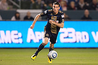Philadelphia Union forward Sebastien Le Toux (9) dribbles the ball. The LA Galaxy defeated the Philadelphia Union 1-0 at Home Depot Center stadium in Carson, California on  April  2, 2011....