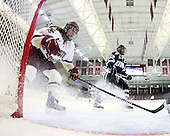 Danielle Welch (BC - 17), Courtney Birchard (UNH - 24) - The Boston College Eagles and the visiting University of New Hampshire Wildcats played to a scoreless tie in BC's senior game on Saturday, February 19, 2011, at Conte Forum in Chestnut Hill, Massachusetts.