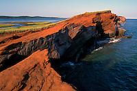 Ile de Grande-Entrée, Iles de la Madeleine, Quebec, Canada - Coastline at Bassin aux Huitres along Gulf of St. Lawrence - (Oyster Basin, Grand Entry Island, Magdalen Islands)