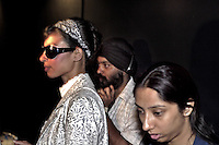 Backstage during the Shantanu and Nikhil show - India fashion week, Autumn - winter collections, New Delhi, April 2006