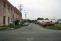 1991 October ..Conservation.MidTown Industrial..FAWN STREET.LOOKING NORTH FROM 25TH STREET...NEG#.NRHA#..