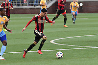 Chattanooga, TN -- February 11, 2017: Atlanta United FC takes the field for the first time in the club's history in a full scrimmage match with Chattanooga FC. Atlanta United won the match, 4-0.