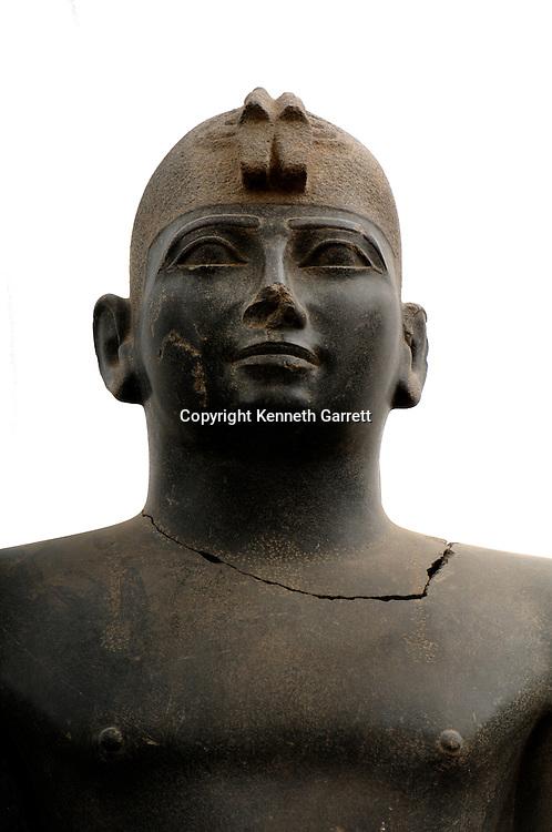 Pharaoh Taharka, 25th Dynasty, Beheaded by conquerors, found by Charles Bonnet, 2004?, Black Pharaohs, Nubians, Sudan, Kerma, Statues, Late Period