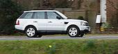 Silver Range Rover in London.