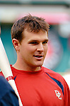 12 June 2006: Brendan Harris, infielder for the Washington Nationals, prepares for batting practice prior to a game against the Colorado Rockies at RFK Stadium, in Washington, DC. The Nationals fell to the Rockies 4-3 in the first game of the four game series...Mandatory Photo Credit: Ed Wolfstein Photo..