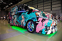 "June 2, 2012, Tokyo, Japan - The car is plastered with Vocaloid characters at the Moe Culture Festival 2012.  The Anime and Cosplay exhibition ""Moe Culture Festival 2012"" from June 2nd to 3rd at Otaku Sangyou Plaza Pio.."
