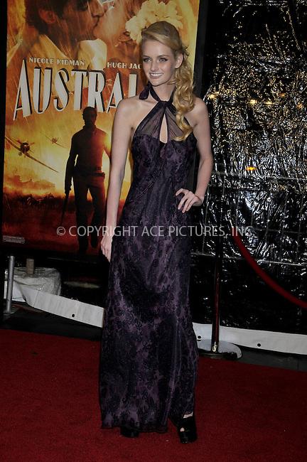 WWW.ACEPIXS.COM . . . . .....November 24, 2008. New York City.....Lydia Hearst attends the 'Australia' Premiere held at the Ziegfeld Theater on November 24, 2008 in New York City...  ....Please byline:  AJ Sokalner - ACEPIXS.COM..... *** ***..Ace Pictures, Inc:  ..Philip Vaughan (646) 769 0430..e-mail: info@acepixs.com..web: http://www.acepixs.com