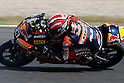 July 4, 2010 - Catalunya, Spain - Marc Marquez (Red Bull Ajo Motorsport) powers his bike during the Catalunya Grand Prix on July 4, 2010. (Photo Andrew Northcott/Nippon News).