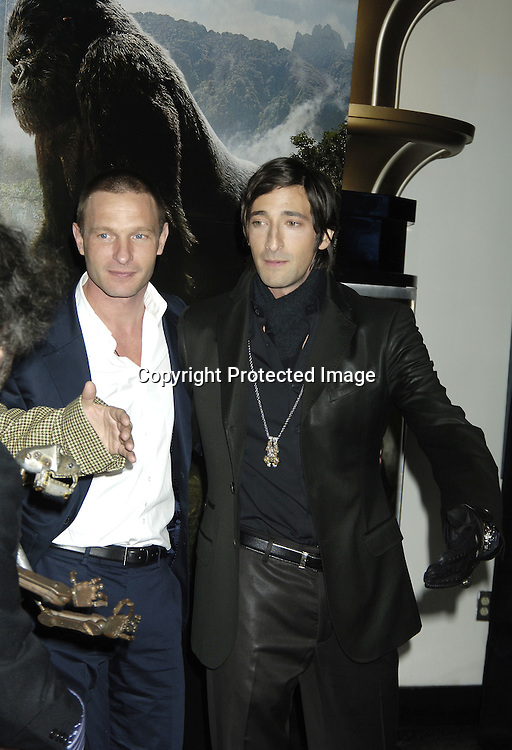 """Thomas Kretschmann and Adrien Brody ..at The World Premier of Universal Pictures """" King Kong"""" ..on December 5, 2005 at The Loews E-Walk. ..Photo by Robin Platzer, Twin Images"""
