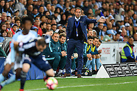 Melbourne, 17 December 2016 - JOHN VAN'T SCHIP coach of Melbourne City directs his players during the round 11 match of the A-League between Melbourne City and Melbourne Victory at AAMI Park, Melbourne, Australia. Victory won 2-1 (Photo Sydney Low / sydlow.com)