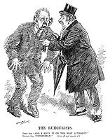 """The Rumourists. First Ass. """"And I have it on the best authority."""" Second Ass. """"Incredible!"""" [Goes off and repeats it.] (two London rumour mongers during WW1)"""