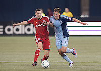 09 March 2013: Toronto FC midfielder Hogan Ephraim #31 and Sporting KC defender Matt Besler #5 in action during an MLS game between Sporting Kansas City and Toronto FC at The Rogers Centre in Toronto, Ontario Canada.