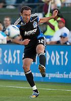 Ramiro Corrales kicks the ball. Toronto FC defeated the San Jose Earthquakes 3-1 at Buck Shaw Stadium in Santa Clara, California on May 29th, 2010.