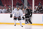 Kyle McKenzie (PC - 5) and Anthony Florentino (PC - 16) lead the Friars onto the Fenway ice. - The Providence College Friars practiced at Fenway on Friday, January 6, 2017, in Boston, Massachusetts.