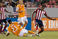 Carson, California - Saturday, May 3, 2014: The Houston Dynamo defeated Chivas USA 4-1 in a Major League Soccer (MLS) match at StubHub Center stadium.
