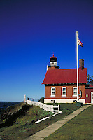 Lighthouse, built in 1871, on the Keweenaw Peninsula at Eagle Harbor on Lake Superior. Eagle Harbor Michigan USA Lake Superior.