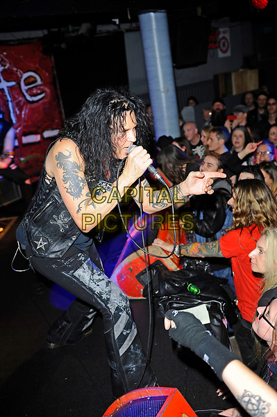 LONDON, ENGLAND - MARCH 19: Jizzy Pearl(James Wilkinson) of 'LOVE/HATE' performing at Camden Underworld on March 19, 2017 in London, England.<br /> CAP/MAR<br /> &copy;MAR/Capital Pictures