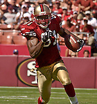 San Francisco 49ers wide receiver Terrell Owens (81) makes power run on Sunday, September 21, 2003, in San Francisco, California. The Browns defeated the 49ers 13-12.