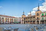 Plaza Mayor (Main Square), El Burgo de Osma, Soria, Spain.