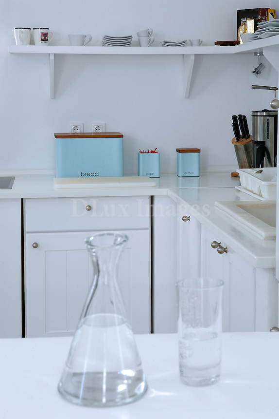 cycladic white kitchen