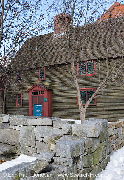 Samuel Pickman House in Salem, Massachusetts USA which is part of New England during the winter months. This is one of  Salem's oldest buildings